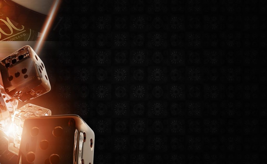 header dice dark background